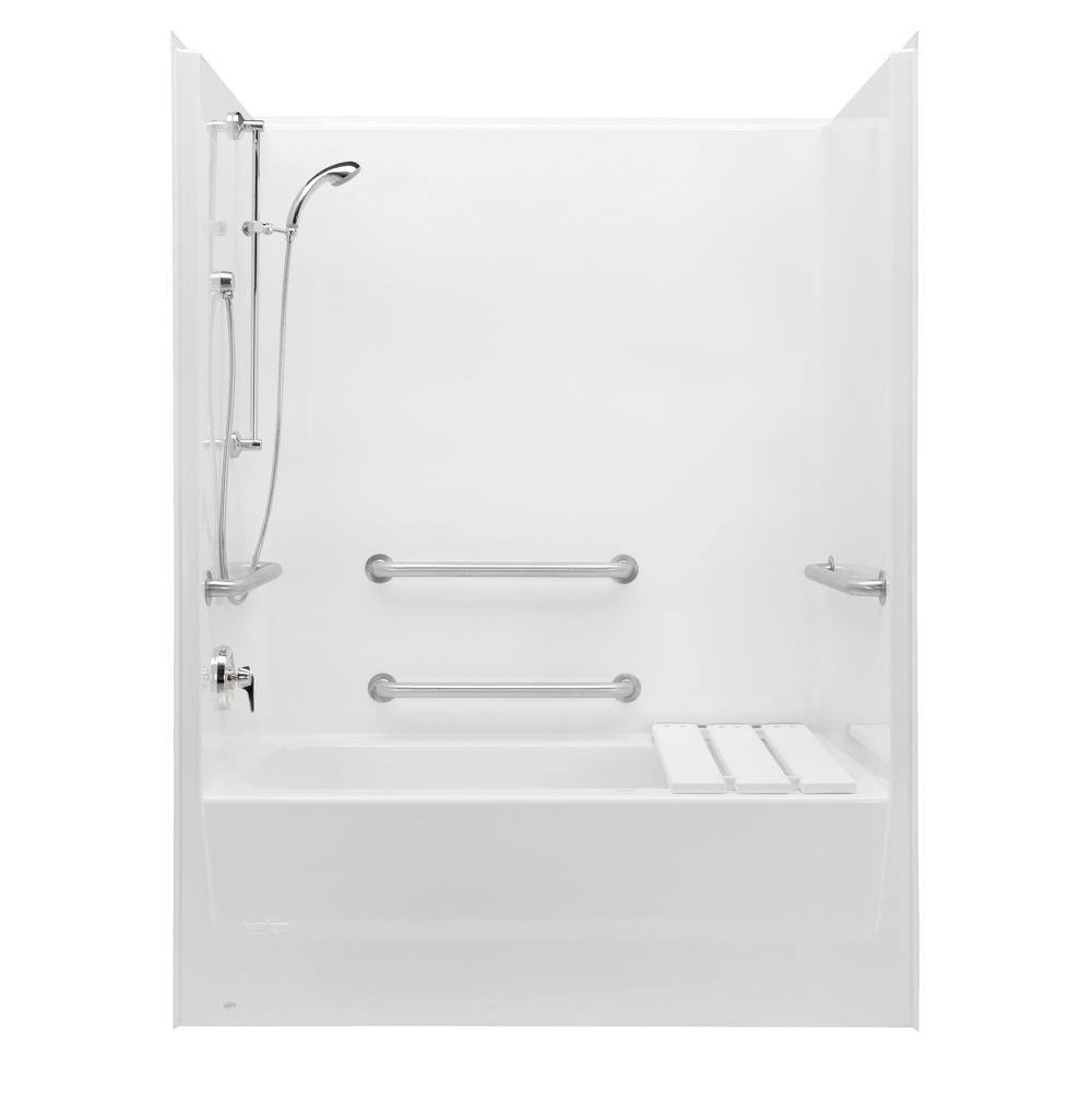 Aquatic Shower Enclosures Accessible White   Vic Bond Sales - Flint ...