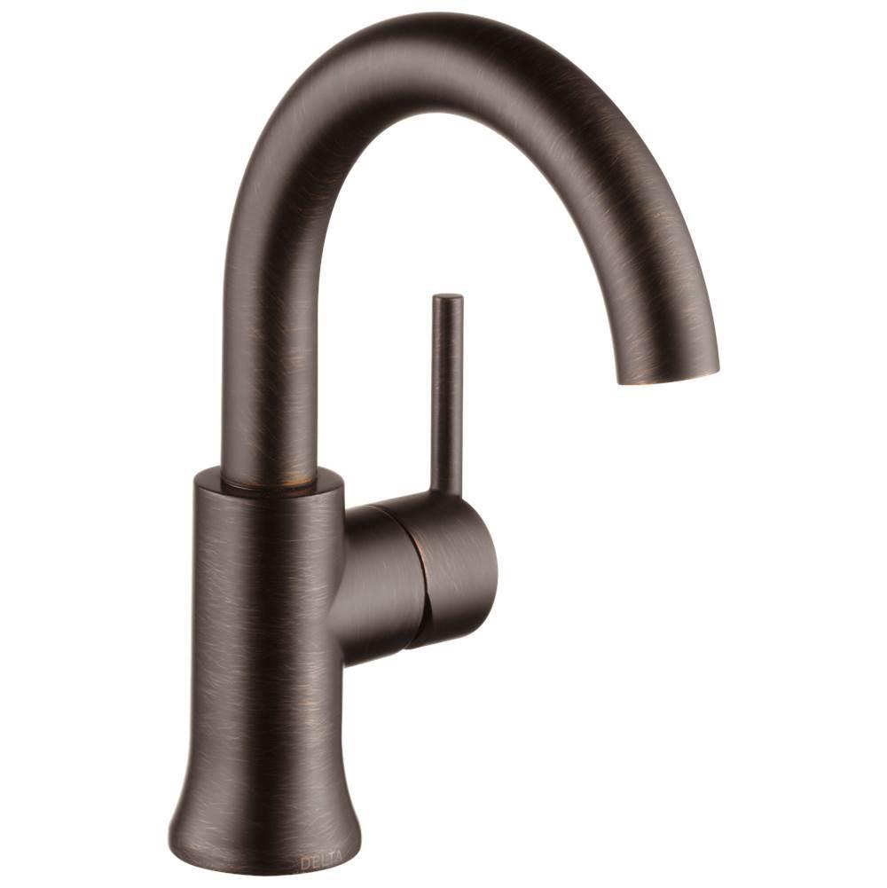 Delta Faucet Bathroom Sink Faucets Single Hole Trinsic Bronze Tones ...