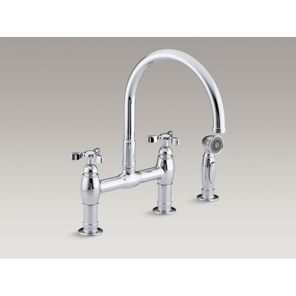 Faucets Kitchen Faucets Bridge Vic Bond Sales FlintHowell - Bridge faucets for kitchen