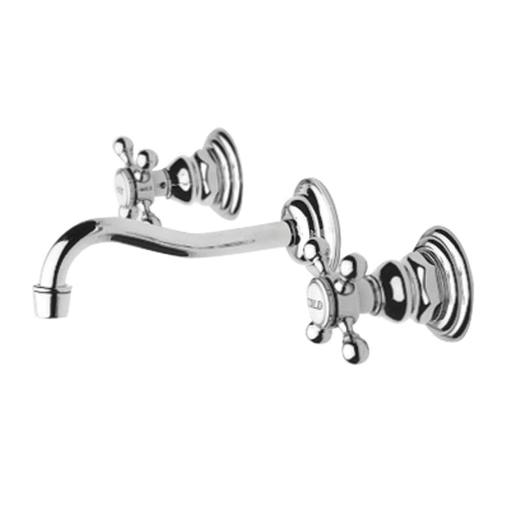 Faucets Bathroom Sink Faucets Wall Mounted Nickel Tones Vic Bond