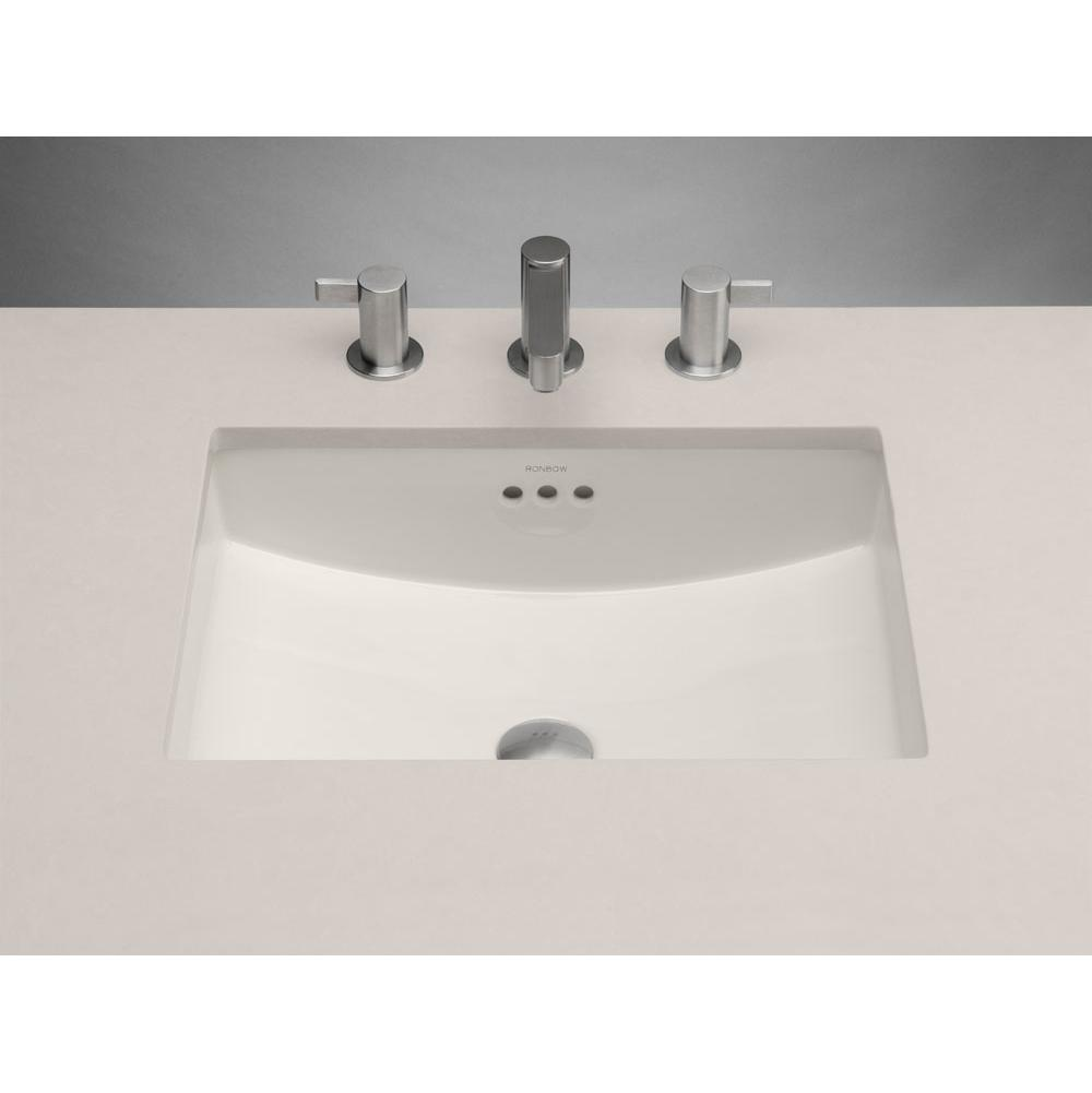 225 00 250 200520 Bi Ronbow 19 Plane Rectangular Ceramic Undermount Bathroom Sink